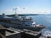 """Το κρουαζιερόπλοιο """"MV Gemini† στο λιμένα του Μπέργκεν, Νορβηγία στοκ εικόνα"""