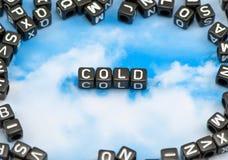 Το κρύο λέξης Στοκ φωτογραφίες με δικαίωμα ελεύθερης χρήσης