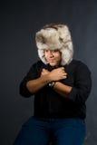 το κρύο αισθάνεται τις ν&epsilon Στοκ Εικόνα