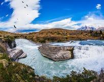 Το κρύο νερό είναι σμαραγδένιος ποταμός Paine Στοκ φωτογραφία με δικαίωμα ελεύθερης χρήσης