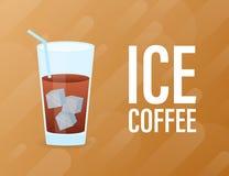 Το κρύο παρασκευάζει τον παγωμένο καφέ r απεικόνιση αποθεμάτων