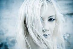 το κρύο πορτρέτο κοριτσιώ&n Στοκ φωτογραφίες με δικαίωμα ελεύθερης χρήσης