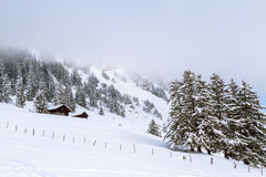 Το κρύο στα βουνά Στοκ φωτογραφίες με δικαίωμα ελεύθερης χρήσης