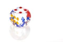 Το κρύσταλλο χωρίζει σε τετράγωνα με τον αριθμό τέσσερα Στοκ Εικόνες