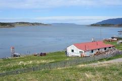 Το κτήμα Harberton είναι το παλαιότερο αγρόκτημα της Γης του Πυρός και ένα σημαντικό ιστορικό μνημείο της περιοχής Στοκ Εικόνες