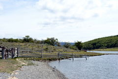 Το κτήμα Harberton είναι το παλαιότερο αγρόκτημα της Γης του Πυρός και ένα σημαντικό ιστορικό μνημείο της περιοχής Στοκ Φωτογραφίες
