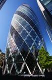 Το κτήριο αγγουριών στο Λονδίνο Στοκ Εικόνα