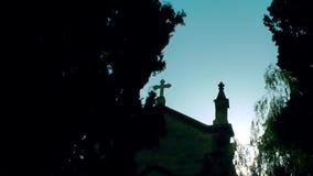 Το κτήριο θρησκείας χριστιανισμού εκκλησιών απόθεμα βίντεο