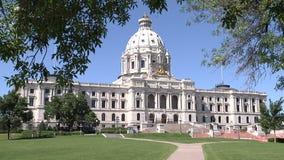 Το κτήριο κρατικού capitol στο Saint-Paul, Μινεσότα απόθεμα βίντεο