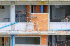 Το κτήριο οικοδόμησης εργασίας με το διάστημα αντιγράφων προσθέτει το κείμενο Στοκ εικόνες με δικαίωμα ελεύθερης χρήσης