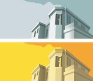 το κτήριο διαμόρφωσε παλαιό Στοκ εικόνες με δικαίωμα ελεύθερης χρήσης