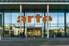 Το κτήριο ARTE, Στρασβούργο Στοκ Εικόνα