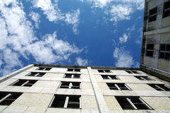 Το κτήριο Buckner στέγασε μιά φορά την ολόκληρη πόλη Whittier, Αλάσκα Στοκ Εικόνα