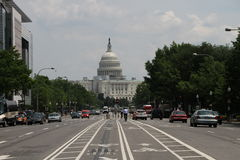 Το κτήριο Capitol στην Ουάσιγκτον, streetview Στοκ Εικόνες