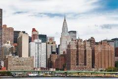 Το κτήριο Chrysler από τον ανατολικό ποταμό στοκ φωτογραφία με δικαίωμα ελεύθερης χρήσης