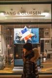 Το κτύπημα καταστημάτων ηλεκτρονικής και με τη γαλλική σημαία μετά από το PA Στοκ εικόνα με δικαίωμα ελεύθερης χρήσης