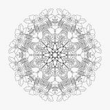 Το κυκλικό σχέδιο περιτυλίχτηκε λουλούδια 2 Στοκ Εικόνες