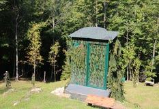 το κυνήγι κάλυψης κατοικεί χρησιμοποιημένος από τους κυνηγούς για να κρύψει στο βουνό Στοκ φωτογραφία με δικαίωμα ελεύθερης χρήσης