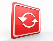 Το κόκκινο αναζωογονεί το κουμπί τρισδιάστατο Στοκ εικόνες με δικαίωμα ελεύθερης χρήσης
