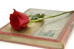 το κόκκινο βιβλίων αυξήθηκε Στοκ Φωτογραφία