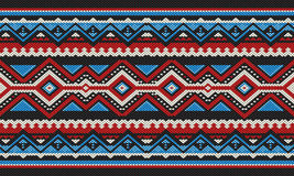 Το κόκκινο και το μπλε απαρίθμησαν την παραδοσιακή λαϊκή ύφανση χεριών Sadu αραβική Στοκ εικόνα με δικαίωμα ελεύθερης χρήσης