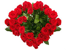 το κόκκινο καρδιών αυξήθηκε Στοκ εικόνες με δικαίωμα ελεύθερης χρήσης