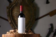 Το κόκκινο κρασί και βουλώνει Στοκ Εικόνα