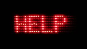 Το κόκκινο να τυλίξει κείμενο με τη λέξη με βοηθά φιλμ μικρού μήκους