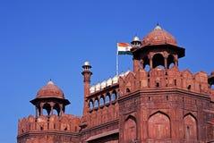 Το κόκκινο οχυρό, παλαιό Δελχί, Ινδία. Στοκ φωτογραφία με δικαίωμα ελεύθερης χρήσης