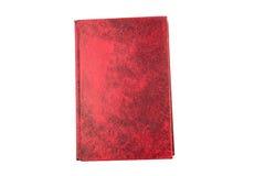 Το κόκκινο σκληρό βιβλίο κάλυψης, κενή σελίδα απομονώνει Στοκ εικόνα με δικαίωμα ελεύθερης χρήσης