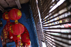 Το κόκκινο φανάρι για το κινεζικό νέο έτος Στοκ Εικόνες