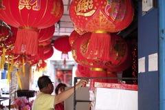 Το κόκκινο φανάρι για το κινεζικό νέο έτος Στοκ Φωτογραφία