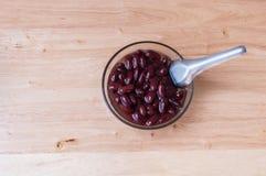 Το κόκκινο φασόλι βράζει τη γλυκιά οργανική τροφή επιδορπίων ζάχαρης Στοκ Φωτογραφία