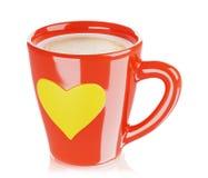 Το κόκκινο φλυτζάνι καφέ, τρισδιάστατο δίνει στοκ φωτογραφία με δικαίωμα ελεύθερης χρήσης