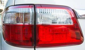 Το κόκκινο φως αυτοκινήτων απομονώνει Στοκ Εικόνα