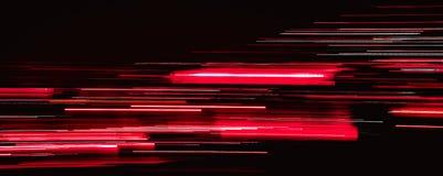 Το κόκκινο φως σύρει τις θαμπάδες κινήσεων στοκ φωτογραφίες