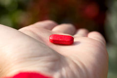 Το κόκκινο χάπι Στοκ Φωτογραφίες