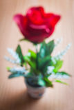 Το κόκκινο Defocused αυξήθηκε Στοκ εικόνες με δικαίωμα ελεύθερης χρήσης