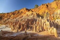 Το κόκκινο tsingy Antsiranana Diego Suarez, Μαδαγασκάρη στοκ φωτογραφία