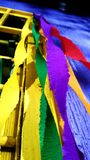 Το κόμμα ευνοεί το ζωηρόχρωμο έγγραφο κορδελλών Στοκ Εικόνες