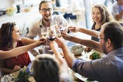 Το κόμμα τροφίμων γεύματος γιορτάζει την έννοια γεγονότος εστιατορίων καφέδων Στοκ φωτογραφία με δικαίωμα ελεύθερης χρήσης