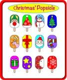 Το κόμμα Popsicle Χριστουγέννων Στοκ Εικόνες
