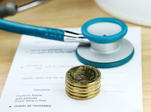 Το κόστος της υγειονομικής περίθαλψης Στοκ Φωτογραφία