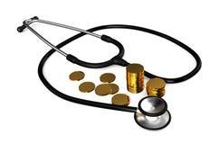 Το κόστος της υγειονομικής περίθαλψης διανυσματική απεικόνιση