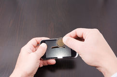 Το κόστος των κινητών τηλεφώνων Στοκ εικόνα με δικαίωμα ελεύθερης χρήσης