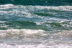 Το κύμα θύελλας θάλασσας, θαλάσσιο υπόβαθρο Στοκ Εικόνα