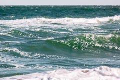Το κύμα θύελλας θάλασσας, θαλάσσιο υπόβαθρο Στοκ εικόνες με δικαίωμα ελεύθερης χρήσης