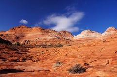 Το κύμα, πορφυρό εθνικό μνημείο απότομων βράχων, Αριζόνα, ΗΠΑ Στοκ φωτογραφία με δικαίωμα ελεύθερης χρήσης