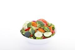 το κύπελλο έκοψε το φρέσκο λευκό επιτραπέζιων λαχανικών Στοκ φωτογραφίες με δικαίωμα ελεύθερης χρήσης