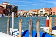 Το κύριο κανάλι του νησιού Murano, Βενετία, Ιταλία Στοκ φωτογραφία με δικαίωμα ελεύθερης χρήσης